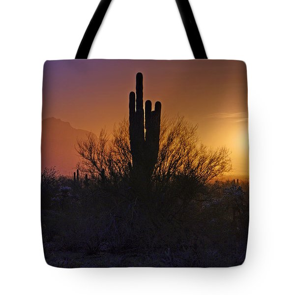 A Sonoran Morning  Tote Bag by Saija  Lehtonen