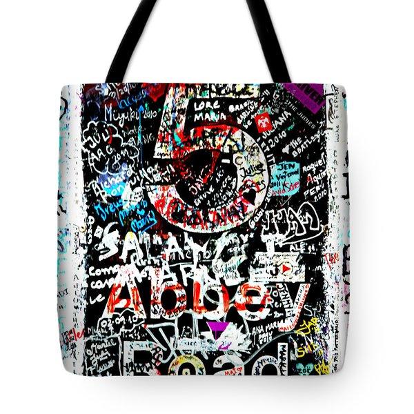 Abbey Road Graffiti Tote Bag by Stephen Stookey