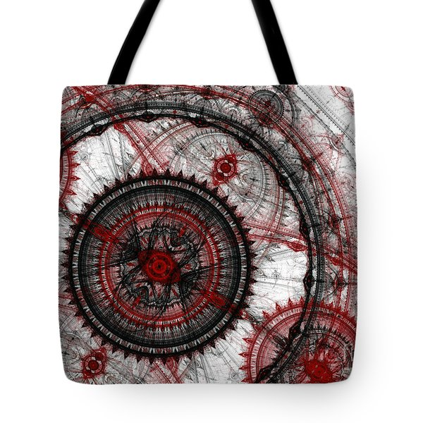 Abstract Mechanical Fractal Tote Bag by Martin Capek