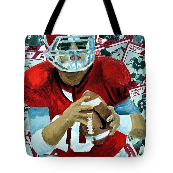 Alabama Quarter Back #10 Tote Bag by Michael Lee