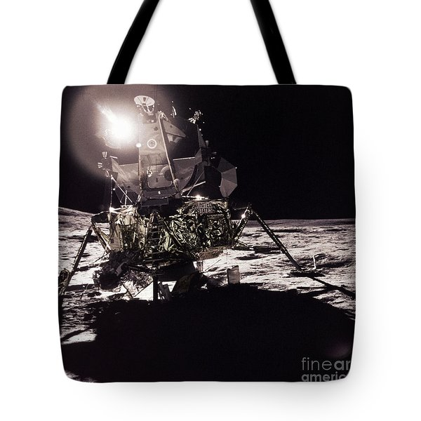 Apollo 17 Moon Landing Tote Bag by Science Source
