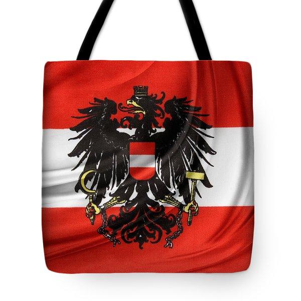 Austrian Flag Tote Bag by Les Cunliffe