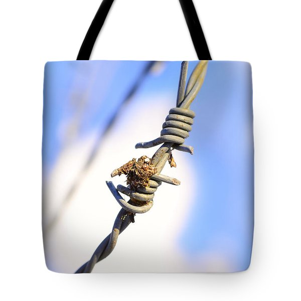 Barb Wire Tote Bag by Toppart Sweden