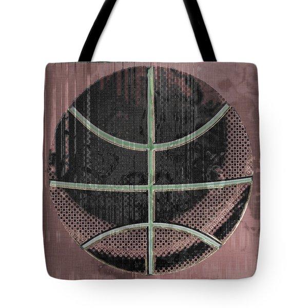 Basketball Abstract Tote Bag by David G Paul