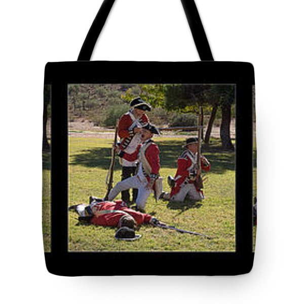 Revolutionary war reenactment tote bags for sale
