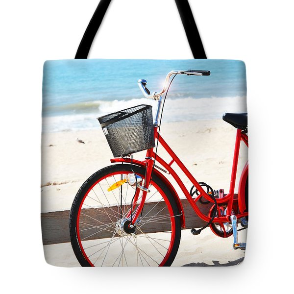 Beach Bicycle Tote Bag by adspice studios