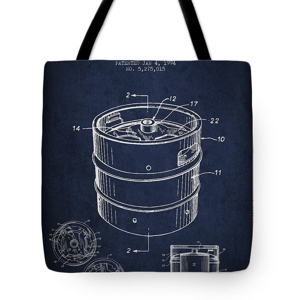 Beer Keg Patent Drawing - Green Tote Bag by Aged Pixel
