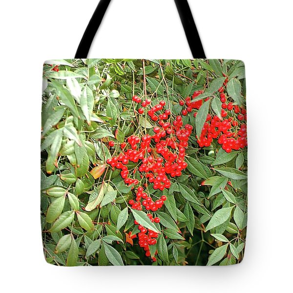 Berry Bush Tote Bag by Kathleen Struckle