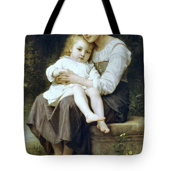Big Sister Tote Bag by William Bouguereau