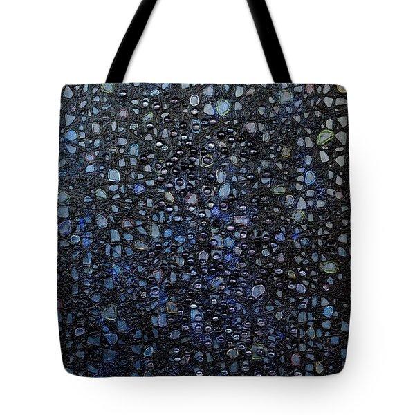 Black Rain Tote Bag by Donna Blackhall
