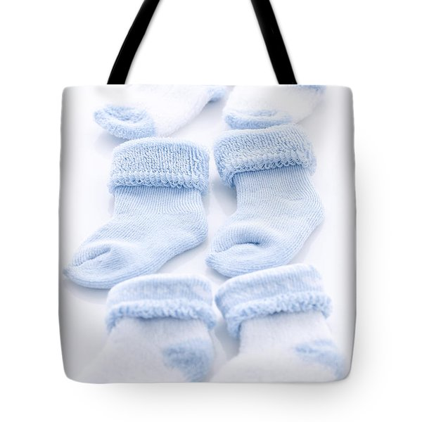 Blue Baby Socks Tote Bag by Elena Elisseeva
