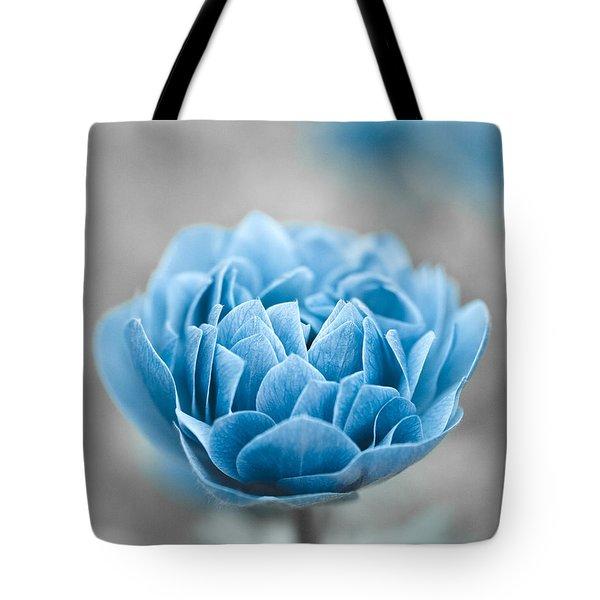 Blue Flower Tote Bag by Frank Tschakert