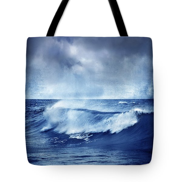 Blue Wave Tote Bag by Guido Montanes Castillo