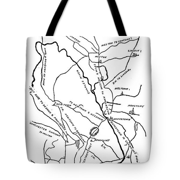 Boston-concord Map, 1775 Tote Bag by Granger