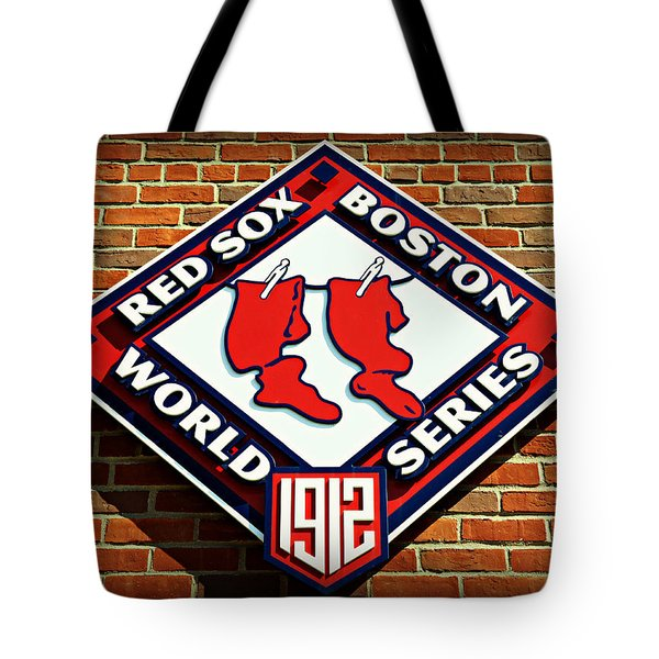 Boston Red Sox 1912 World Champions Tote Bag by Stephen Stookey