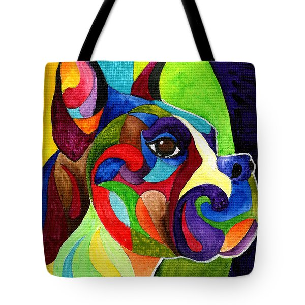 Boxer Tote Bag by Sherry Shipley