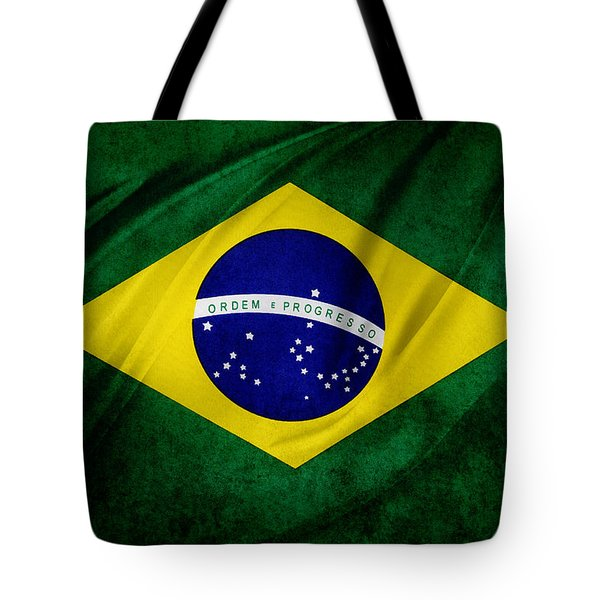 Brazilian flag Tote Bag by Les Cunliffe