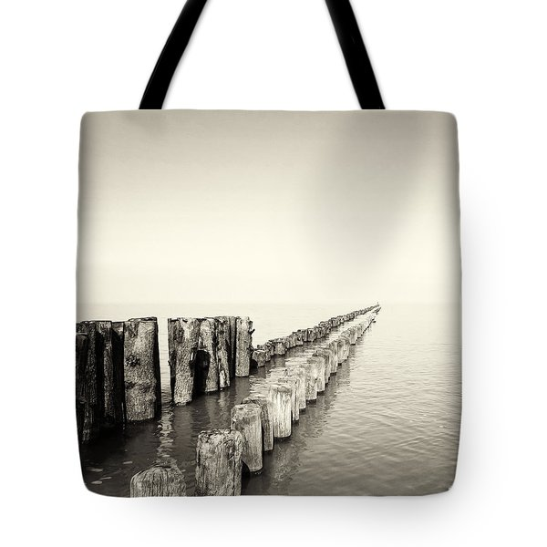 Breakwaters Tote Bag by Wim Lanclus