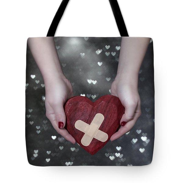 Broken Heart Tote Bag by Joana Kruse