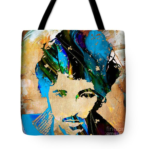 Bruce Springsteen Painting Tote Bag by Marvin Blaine