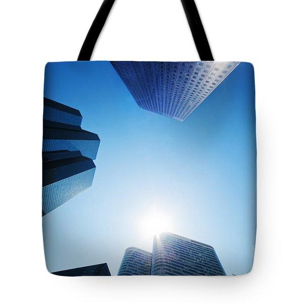 Business skyscrapers Tote Bag by Michal Bednarek