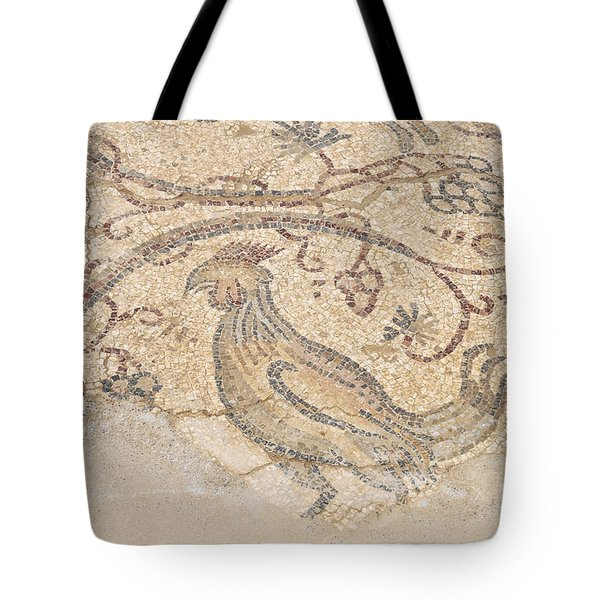 Byzantine Mosaic Depicting Animals And Hunting Scenes. Tote Bag by Shay Levy
