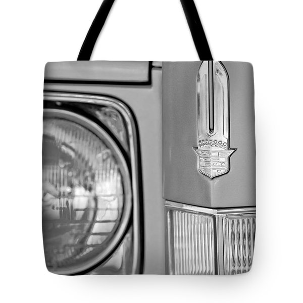 Cadillac Headlight Emblem Tote Bag by Jill Reger