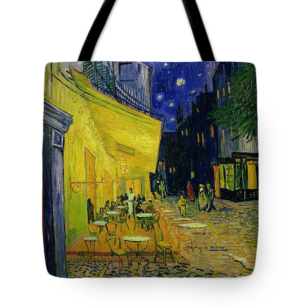 Cafe Terrace Arles Tote Bag by Vincent van Gogh