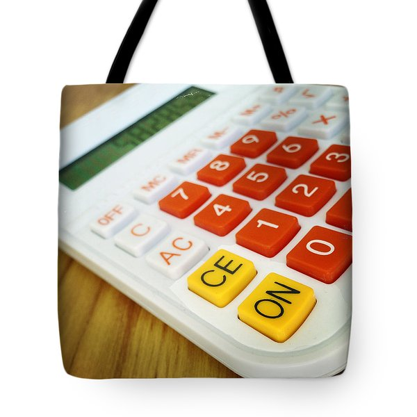 Calculator Tote Bag by Les Cunliffe