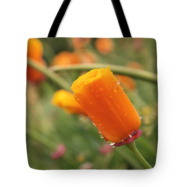 California Poppies Tote Bag by Rona Black