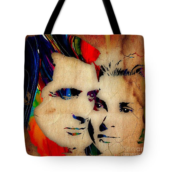 Cary Grant And Grace Kelly Collection Tote Bag by Marvin Blaine