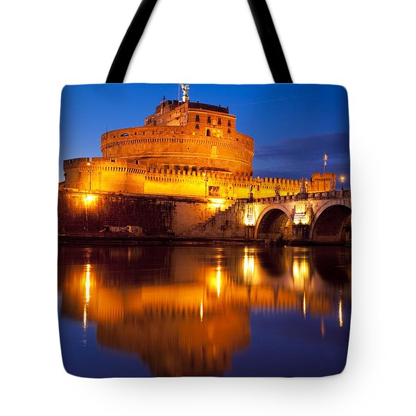Castel Sant Angelo Tote Bag by Brian Jannsen