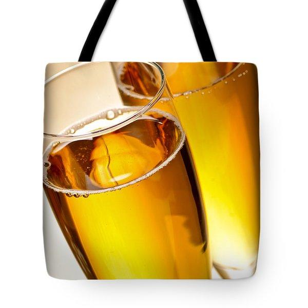 Champagne In Glasses Tote Bag by Elena Elisseeva