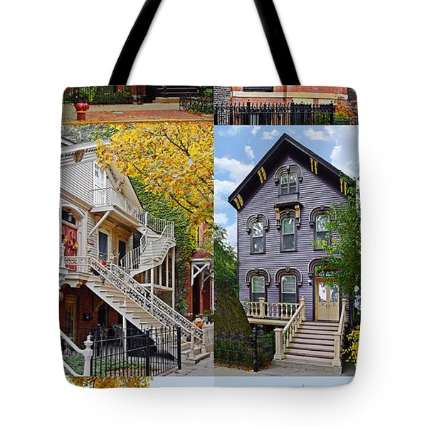 Chicago Historic Old Town Triangle Tote Bag by Christine Till