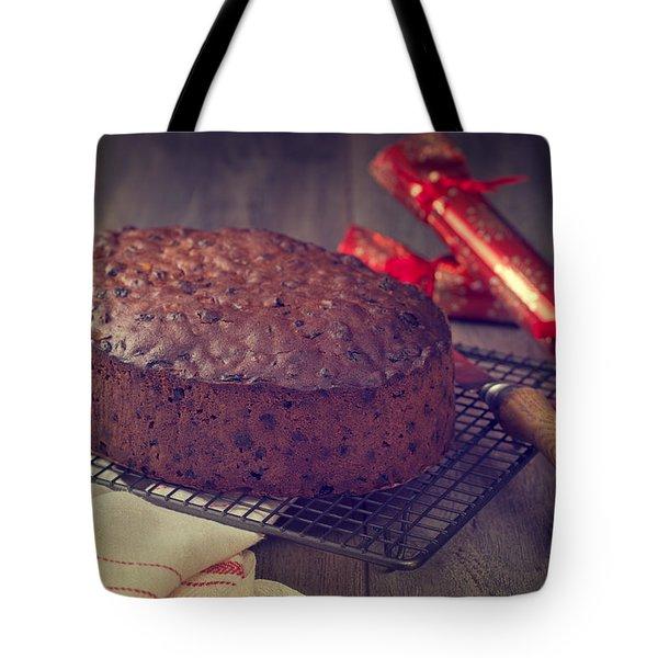 Christmas Cake Tote Bag by Amanda Elwell