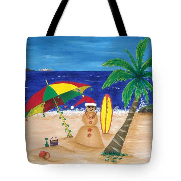 Christmas In Kona Tote Bag by Pamela Allegretto