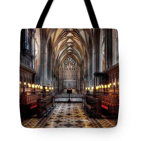 Church Interior Tote Bag by Adrian Evans