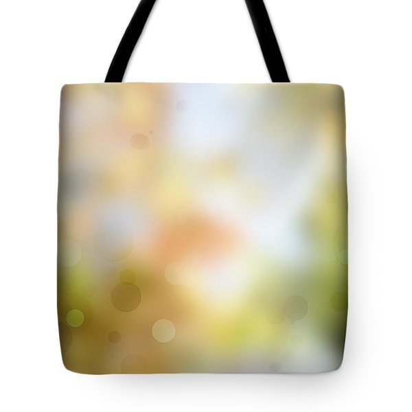 Circles Background Tote Bag by Les Cunliffe