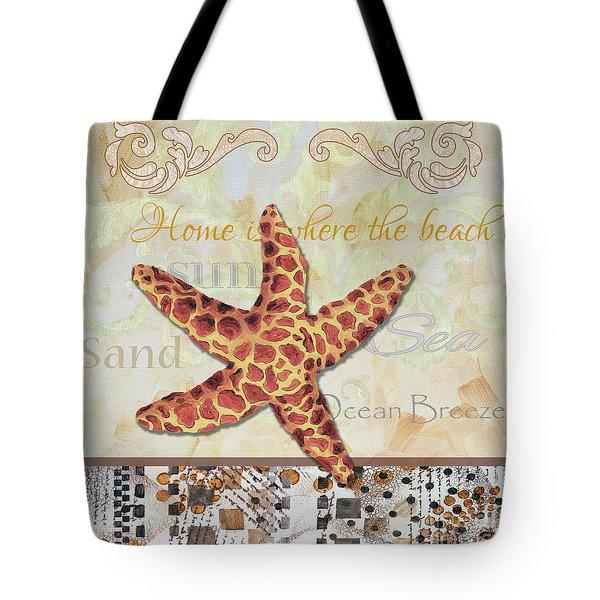 Coastal Decorative Starfish Painting Decorative Art By Megan Duncanson Tote Bag by Megan Duncanson
