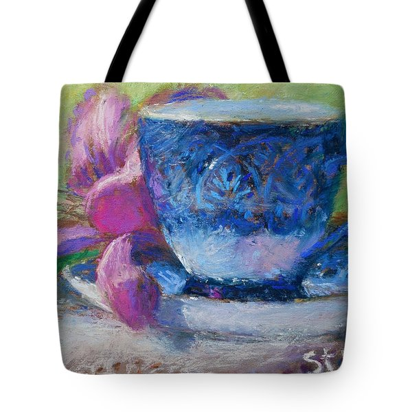 Coffee And Flowers Tote Bag by Nancy Stutes