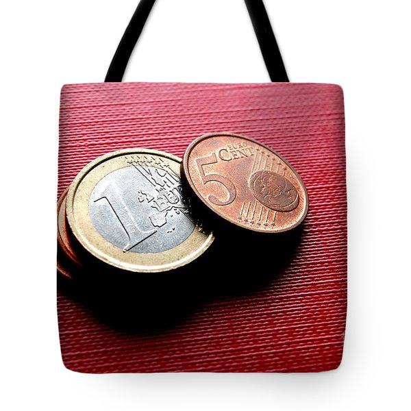 Coins Euro Tote Bag by Michal Bednarek
