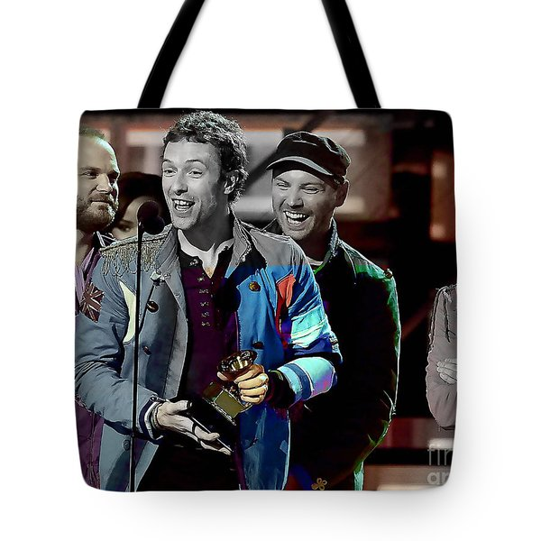 Coldplay Tote Bag by Marvin Blaine