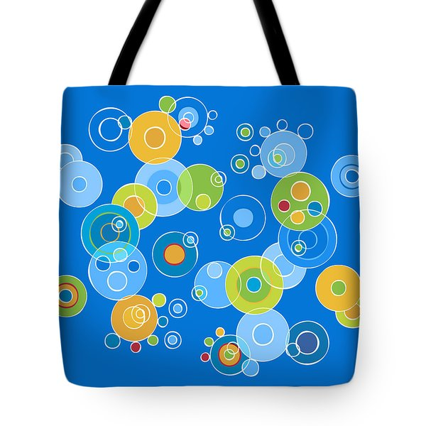 Colorful Circles Tote Bag by Frank Tschakert