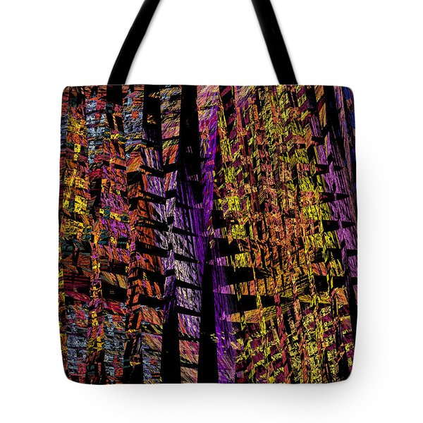 Colorful Computer Generated Abstract Fractal Flame Tote Bag by Keith Webber Jr