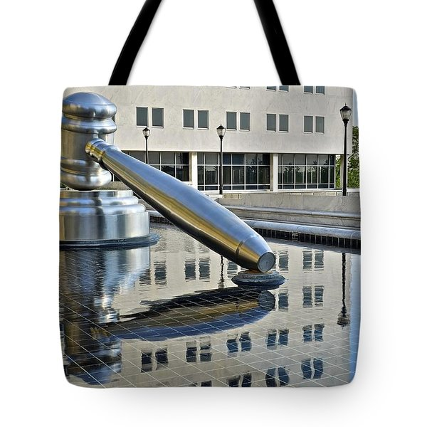 Columbus Ohio Justice Center Tote Bag by Frozen in Time Fine Art Photography
