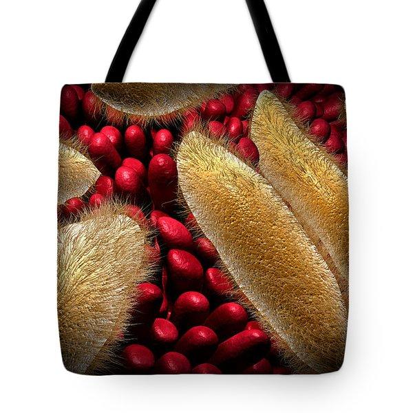 Conceptual Image Of Paramecium Tote Bag by Stocktrek Images