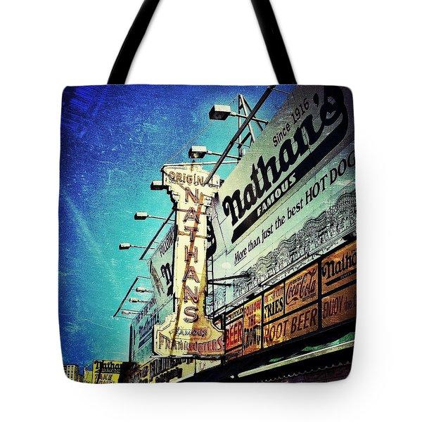 Coney Island Grub Tote Bag by Natasha Marco