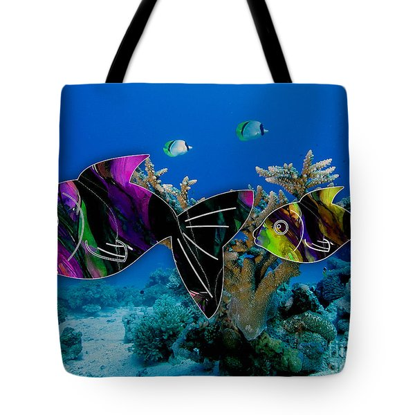 Coral Reef Painting Tote Bag by Marvin Blaine