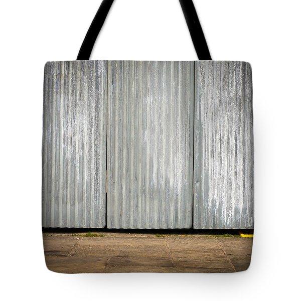 Corrugated metal Tote Bag by Tom Gowanlock
