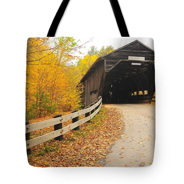 Covered Bridge Tote Bag by Catherine Reusch  Daley